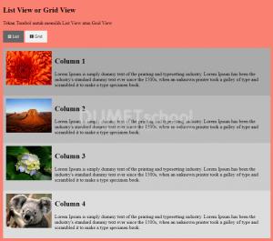 Membuat Tampilan List View dan Grid View Menggunakan Javascript