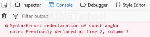 apa itu const dan cara menggunakan const pada ES1