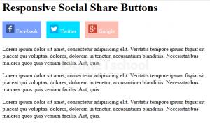 Cara Membuat Tombol Social Share Responsif
