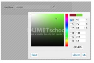 jQuery UI Color Picker tanpa Bootstrap