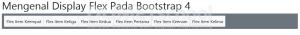 Mengenal Display Flex Pada Bootstrap 4 Part6