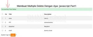 Membuat Multiple Delete Dengan Ajax Javascript Part2