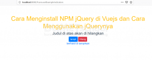 menginstall npm jQuery di vuejs dan cara menggunakannya