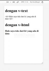 cara menampilkan data dengan tag HTML di VueJS