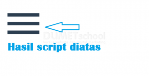 Cara Membuat Menubar Dengan Toggle Menggunakan HTML CSS dan JQuery