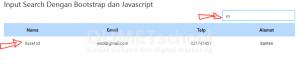 Cara membuat input search dengan bootstrap dan javascript