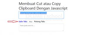 Membuat Copy Clipboard Dengan Javascript