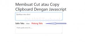 Membuat Cut text Dengan Javascript