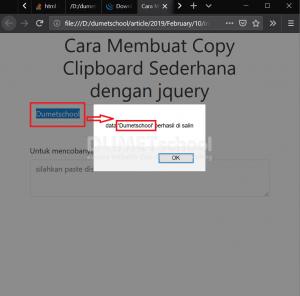 cara membuat copy clipboard sederhana dengan jquery