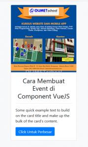 Cara Membuat Event di Component VueJS