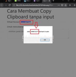 cara membuat copy clipboard tanpa input
