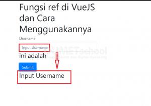 fungsi ref di VueJS dan cara menggunakannya