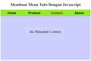 2-Membuat Menu Tabs Dengan Javascript