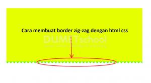 cara membuat border zig-zag dengan html css