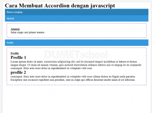 cara membuat acordion dengan Javascript