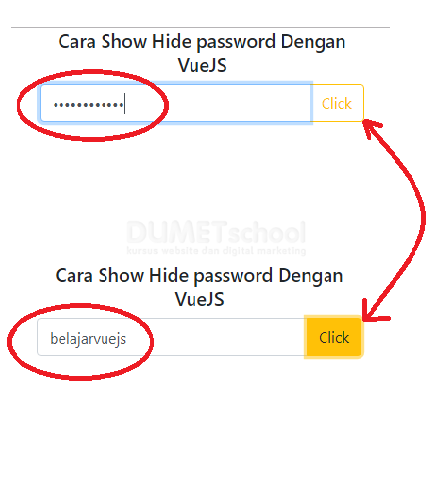 Cara Show Hide Password Dengan VueJs