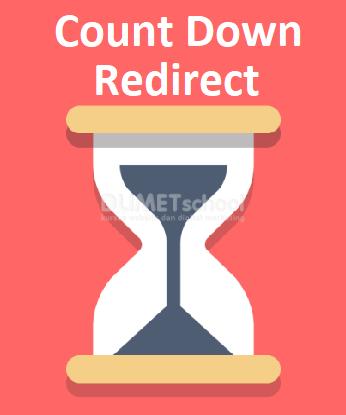 Cara Membuat Count Down Redirect Halaman