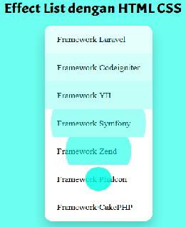Membuat Efek Animasi List dengan HTML CSS