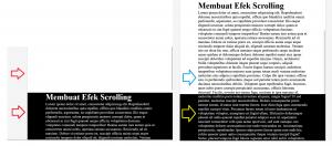 Membuat -Efek Scrolling Dengan HTML CSS
