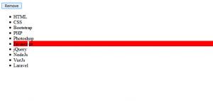 cara menghapus list sesuai pilihan dengan javascript