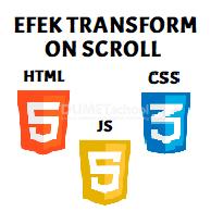 Membuat Efek Transform On Scroll Dengan Javascript