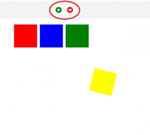 Cara Membuat efek Play Pause Animasi Kotak berputar