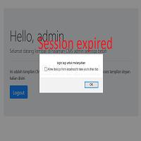 cara membuat session expired dengan ajax dan php