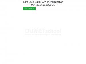 cara load data JSON menggunakan metode Ajax getJSON