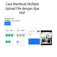 Cara Membuat Multiple Upload File dengan Ajax PHP