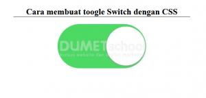 Cara membuat toogle Switch dengan CSS